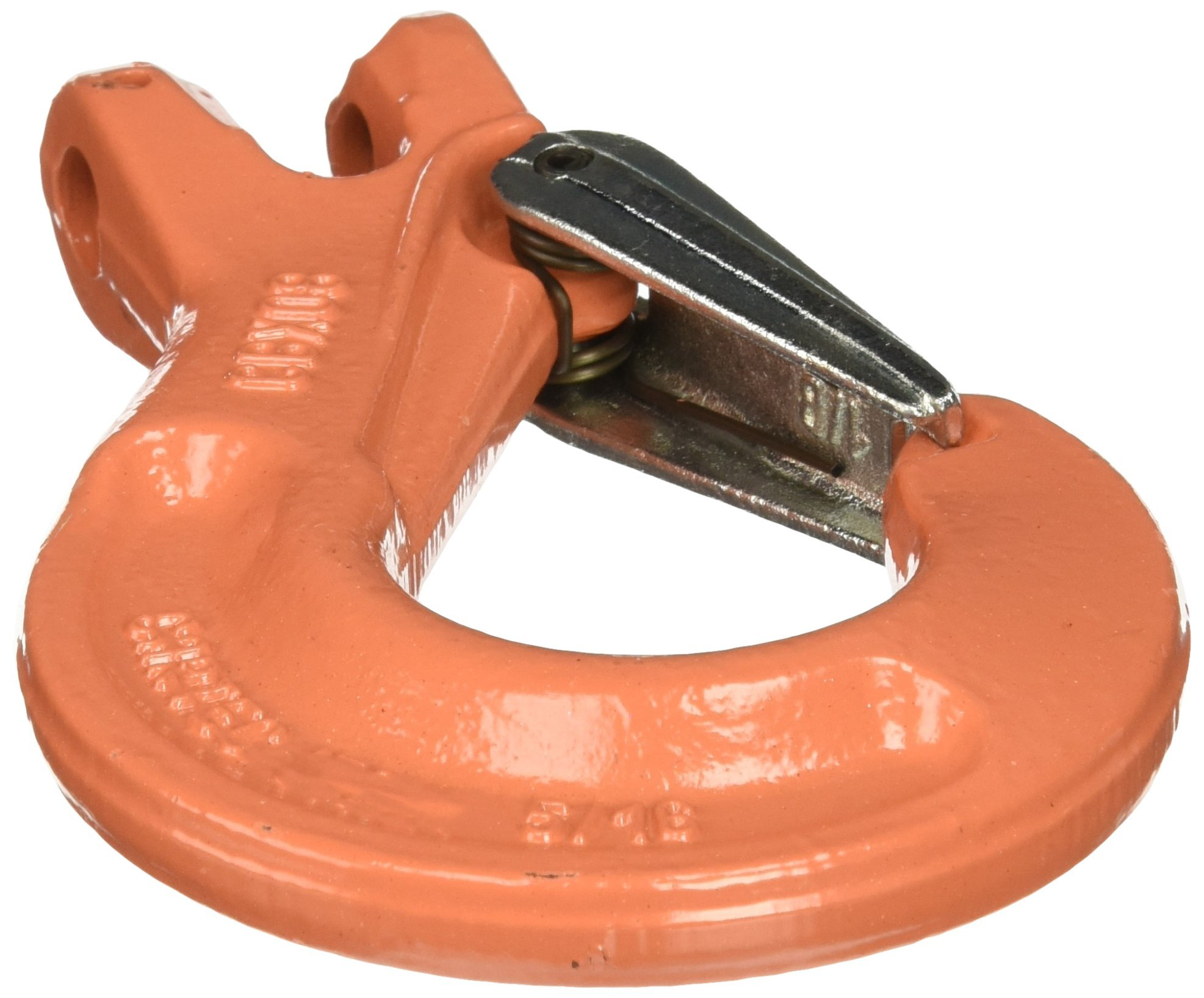 All Material Handling CBX08SF Clevis Sling Hook with Latch, G100 Alloy Chain Fittings, 5/16'' Size