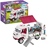 Schleich SC42370 Mobile Vet with Hanoverian Foal Playset, White