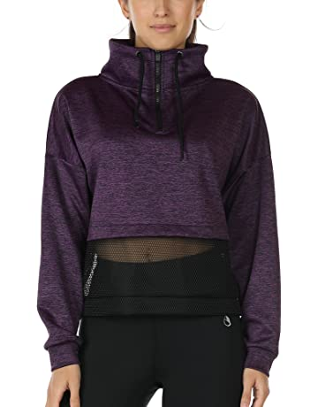 0771f612f92 icyzone Womens Long Sleeve Workout Shirts Athletic Running Tops Track Jacket  Half-Zip Pullover