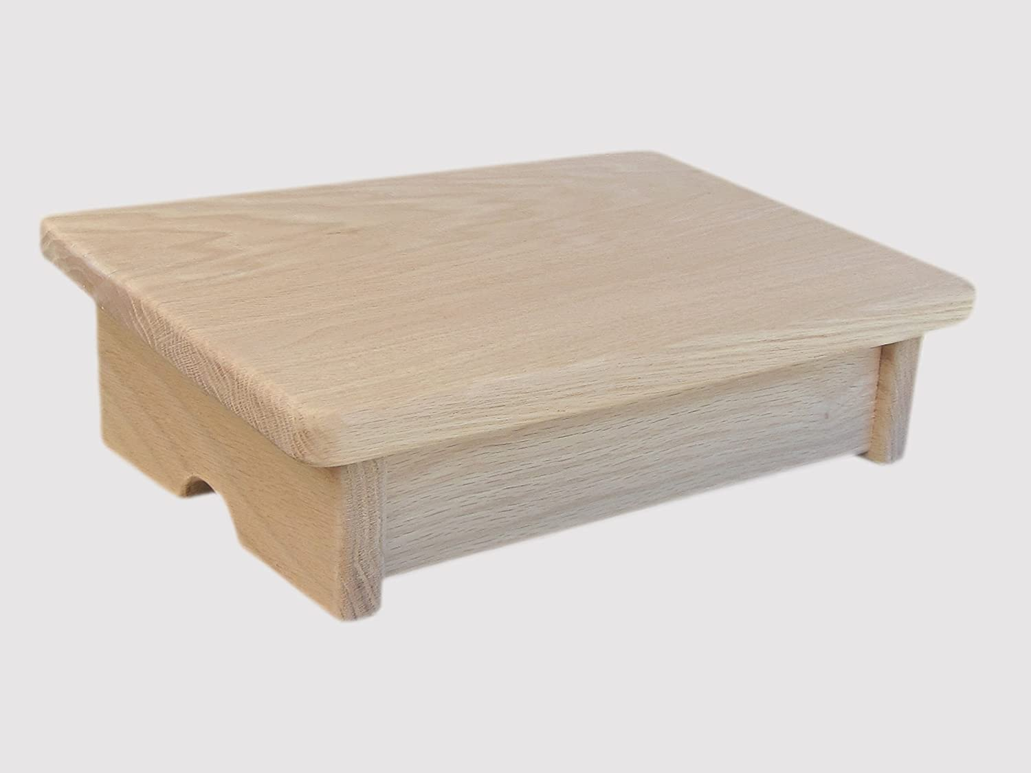 """KR Ideas Comfort Foot Stool, 4"""" Tall, Oak, Unfinished (Made in The USA)"""