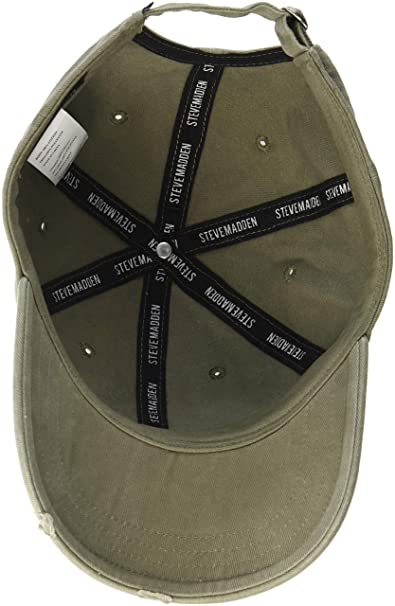 sports shoes 77c27 088d9 Steve Madden Men's dad hat, Olive at Amazon Men's Clothing ...
