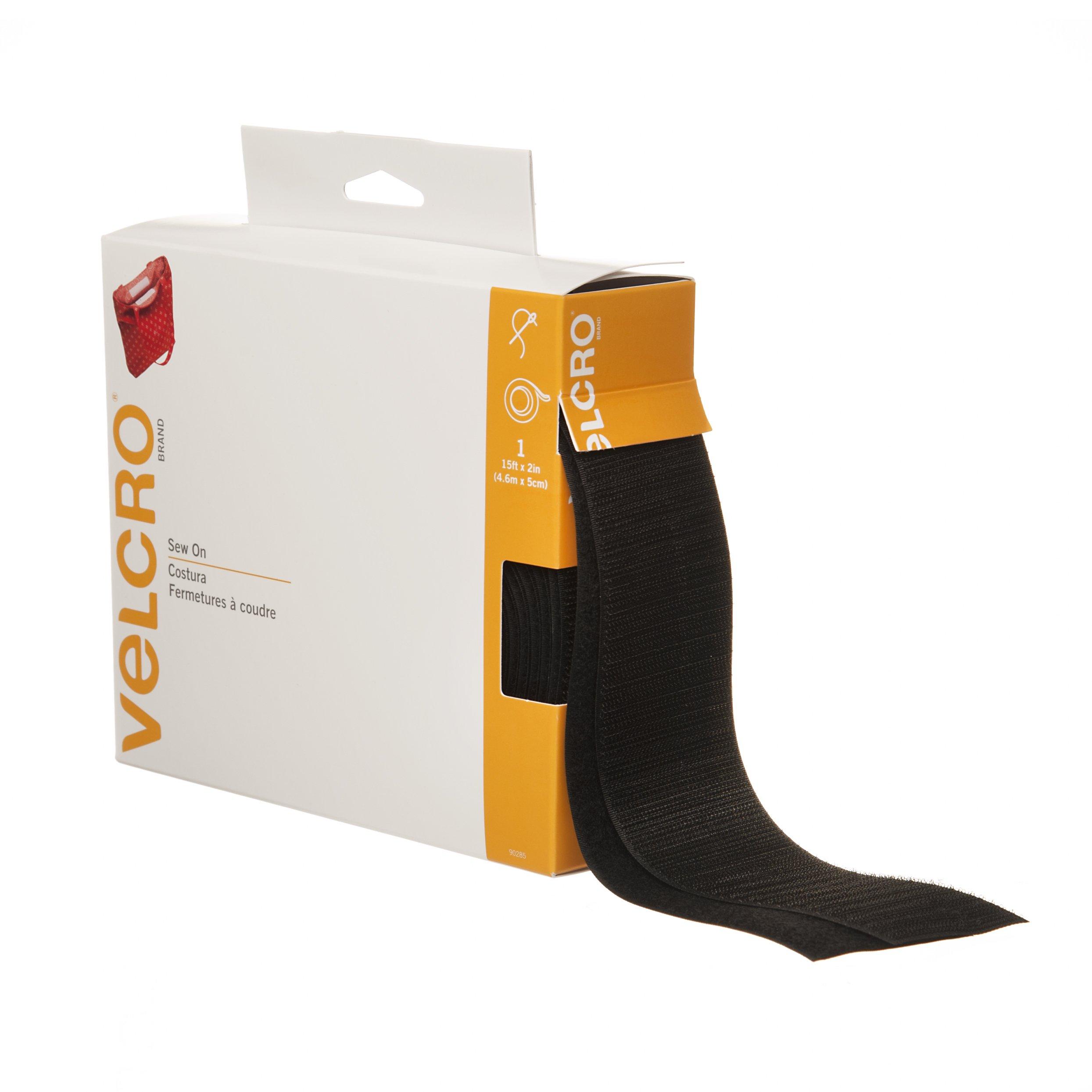 VELCRO Brand - Sew On Fasteners - 15' x 2'' Tape - Black