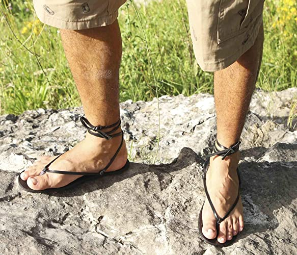 dad9624b46779 Amazon.com: CHASQUI Men - Barefoot leather flat sandals/flexible men ...