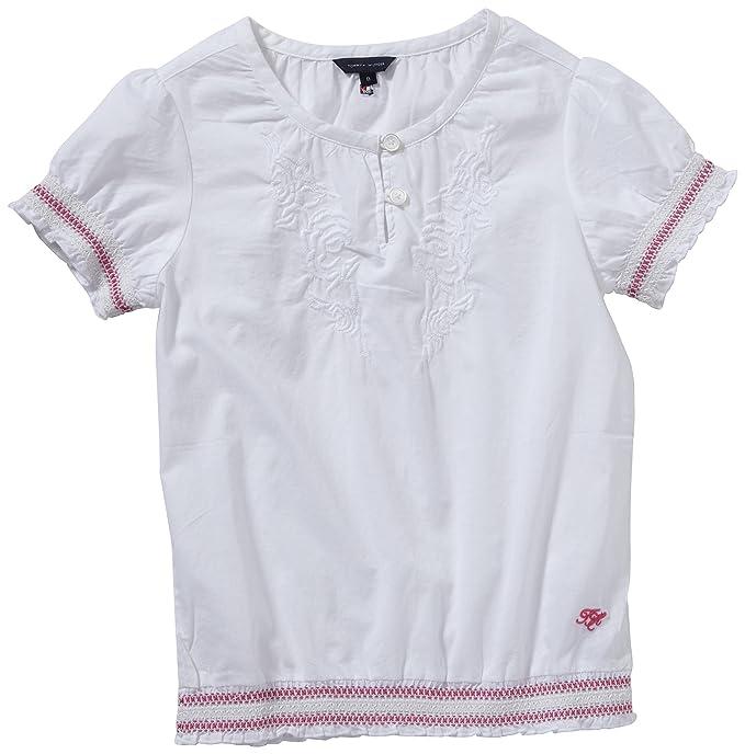 Tommy Hilfiger Blusa para niña, talla 14 años (162 cm), color Blanco