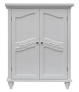 Elegant Home Fashion Vera 2-Door Floor Cabinet, White