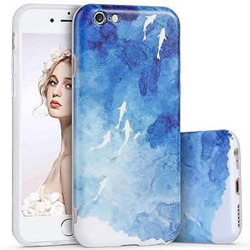 72c548376d Imikoko iPhone6ケース iPhone6s Plus ケース アイホン6 6s プラス スマホケース 保護カバー 花柄 おしゃれ