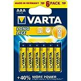 Varta - Pile Alcaline - AAA x 6 - Longlife (LR03)