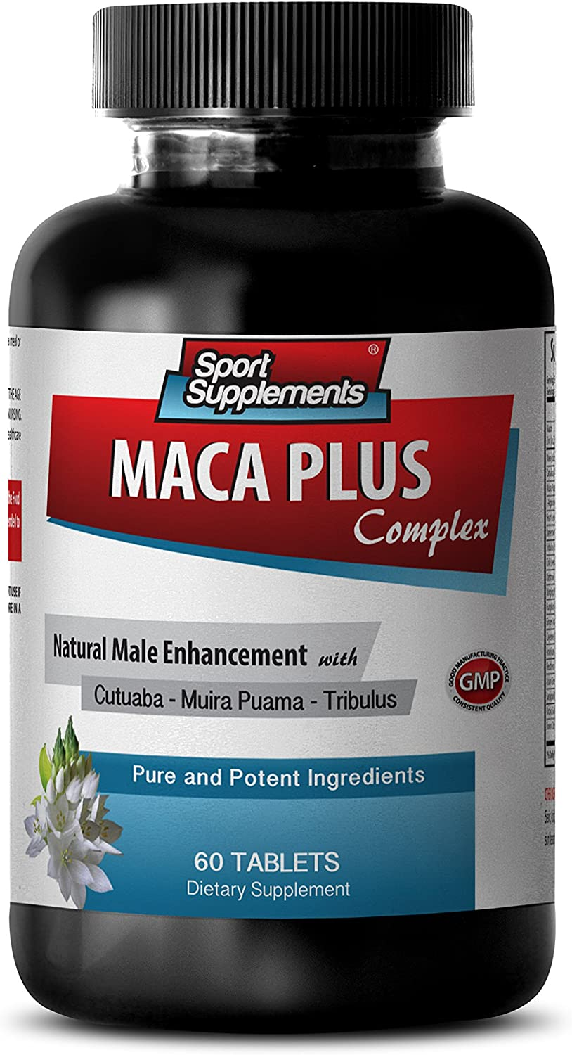 Maca Root Capsules - Maca Plus Complex - Supports Energy Level (1 Bottle - 60 Tablets)