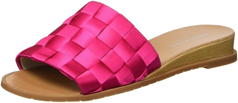 Kenneth Cole New York Women's Joanne Woven Satin Slide Sandal B079K6S5VD 9.5 B(M) US|Fuchsia
