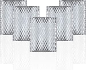 Thermal Insulated Bubble Mailers 12x17 Food Grade Padded envelopes 12 x 17. Pack of 10 Silver Cushion envelopes. Peel and Seal. Metallic foil. Mailing, Shipping, Packing, Packaging.