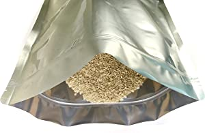 """20 Pack 1.5 Gallon Long Term Storage 6 Mil Plus Sized Pound Mylar Zip Seal Bags. 12"""" x 16"""" Food Prepper, Aluminum Foil, Food Grade, Smell Proof Pouch. Emergency Bulk Supply, Survival. ROYPACK"""