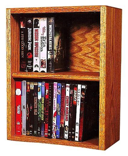 The Wood Shed 210 1 W U Solid Oak DVD Storage Cabinet, Unfinished