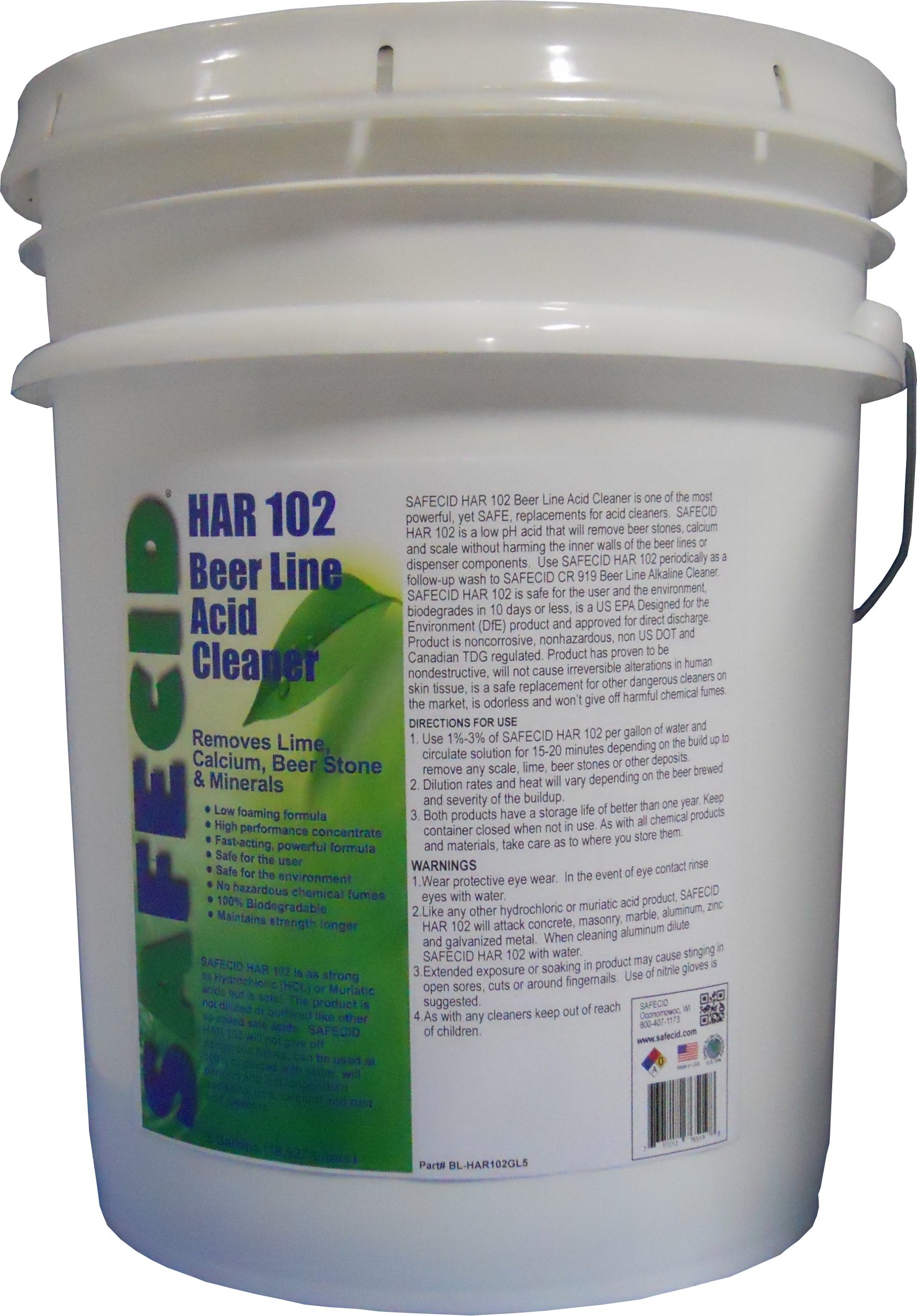 Beer Line Acid Cleaner 5 Gallon Pail