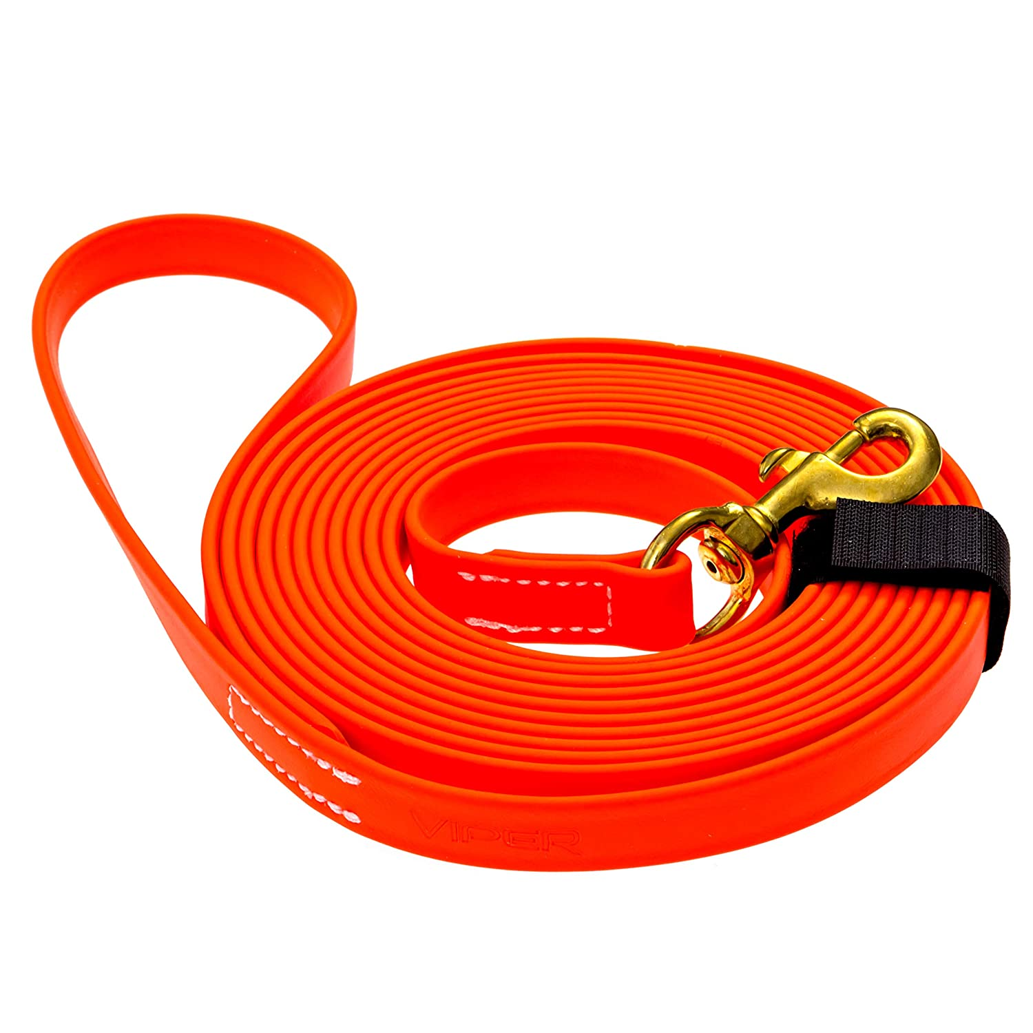 orange W 3 4\ orange W 3 4\ Viper Biothane Working Tracking Lead Leash Long Line for Dogs 2 colors and 6 Sizes