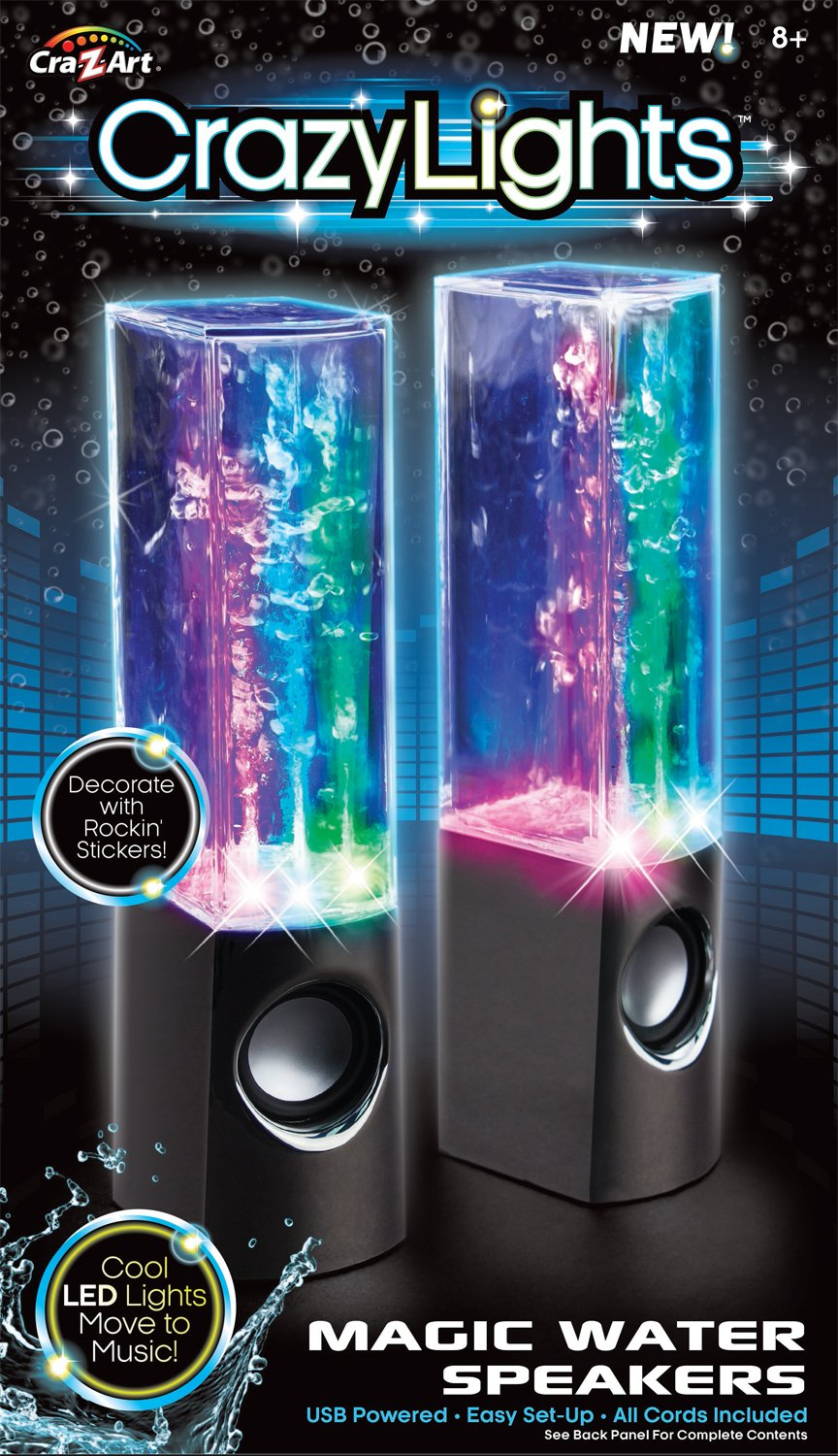 Cra-Z-Art Dancing Water Speakers (Colors May Vary) by Cra-Z-Art