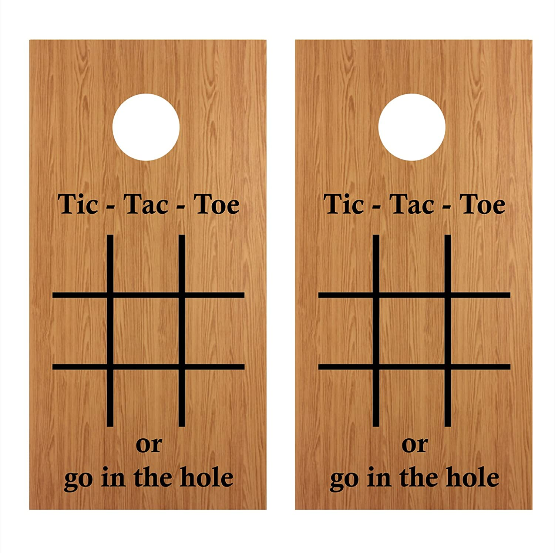 Amazon.com: Lets Print Big Tic-Tac-Toe Cornhole Board ...