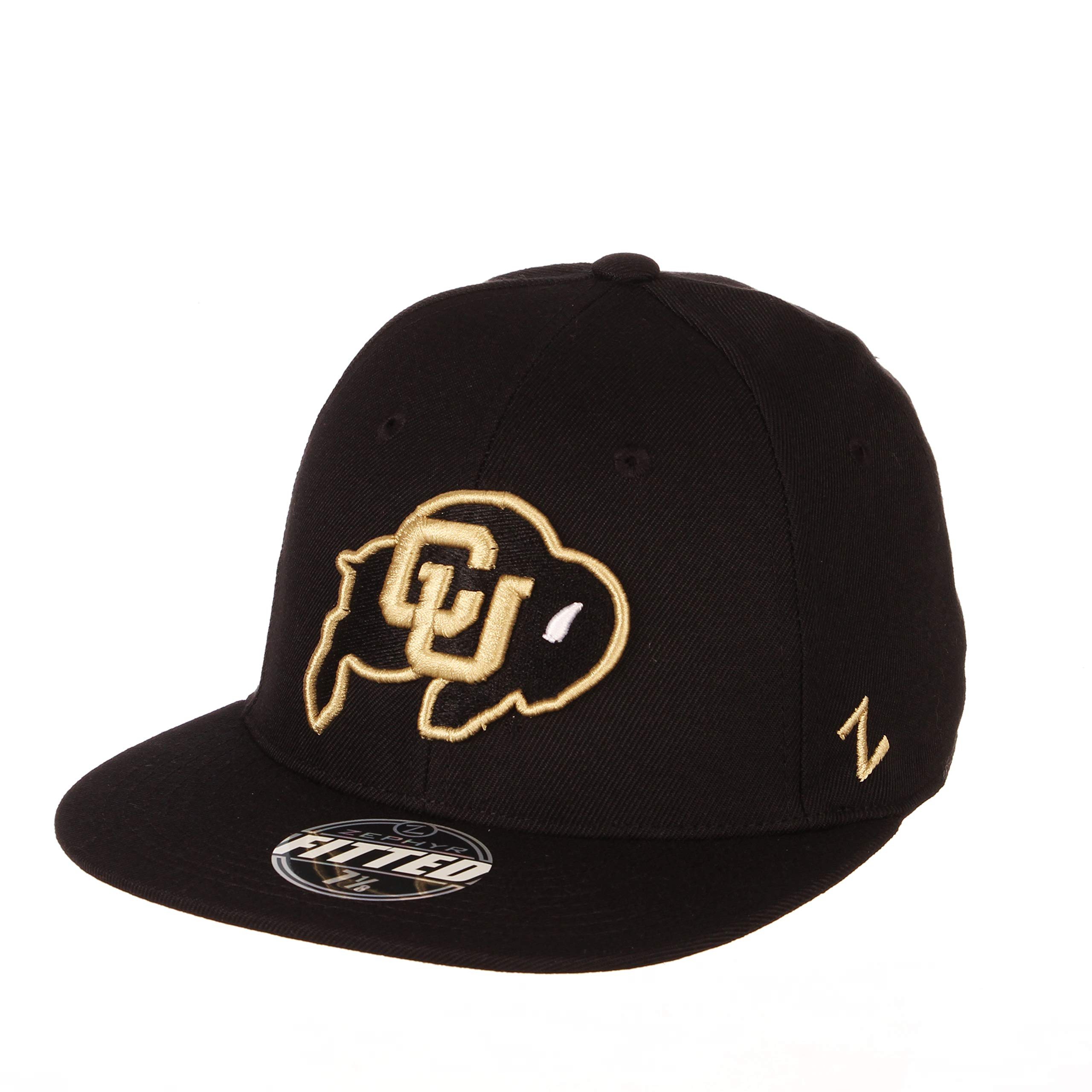 Zephyr NCAA Colorado Buffaloes Men's M15 Fitted Hat, 7_3/4, Black