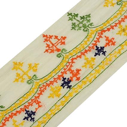 Amazon Com Vintage Saree Border Craft Trim Antique Lace Sindh