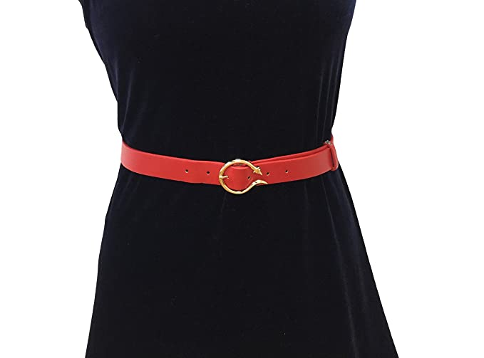 f92fc3a40 Women Girls Fashion Basic Waist Band Waist Belt Fox Form Buckle (coffee) at  Amazon Women's Clothing store: