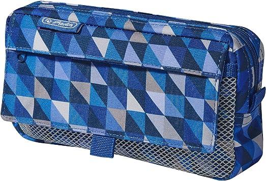 Herlitz 50009756 - Estuche Cuadrado (tamaño Grande), Geometric Blue (Multicolor) - 50022052: Amazon.es: Equipaje