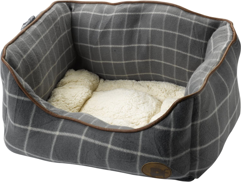 Amazon Com Petface Grey Window Pane Check Square Bed Small Pet Supplies