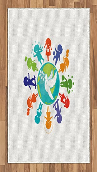 Amazon Youth Area Rug By Ambesonne Cute Children Silhouettes