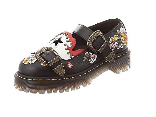 Dr. Martens Women s Mukai Aunt Sally Leather Buckle Mary Jane Shoe Black- Black- 642572362c4