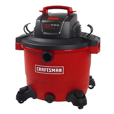 CRAFTSMAN 17595 16 Gallon 6.5 Peak HP Wet/Dry Vac, Heavy-Duty Shop Vacuum with Attachments