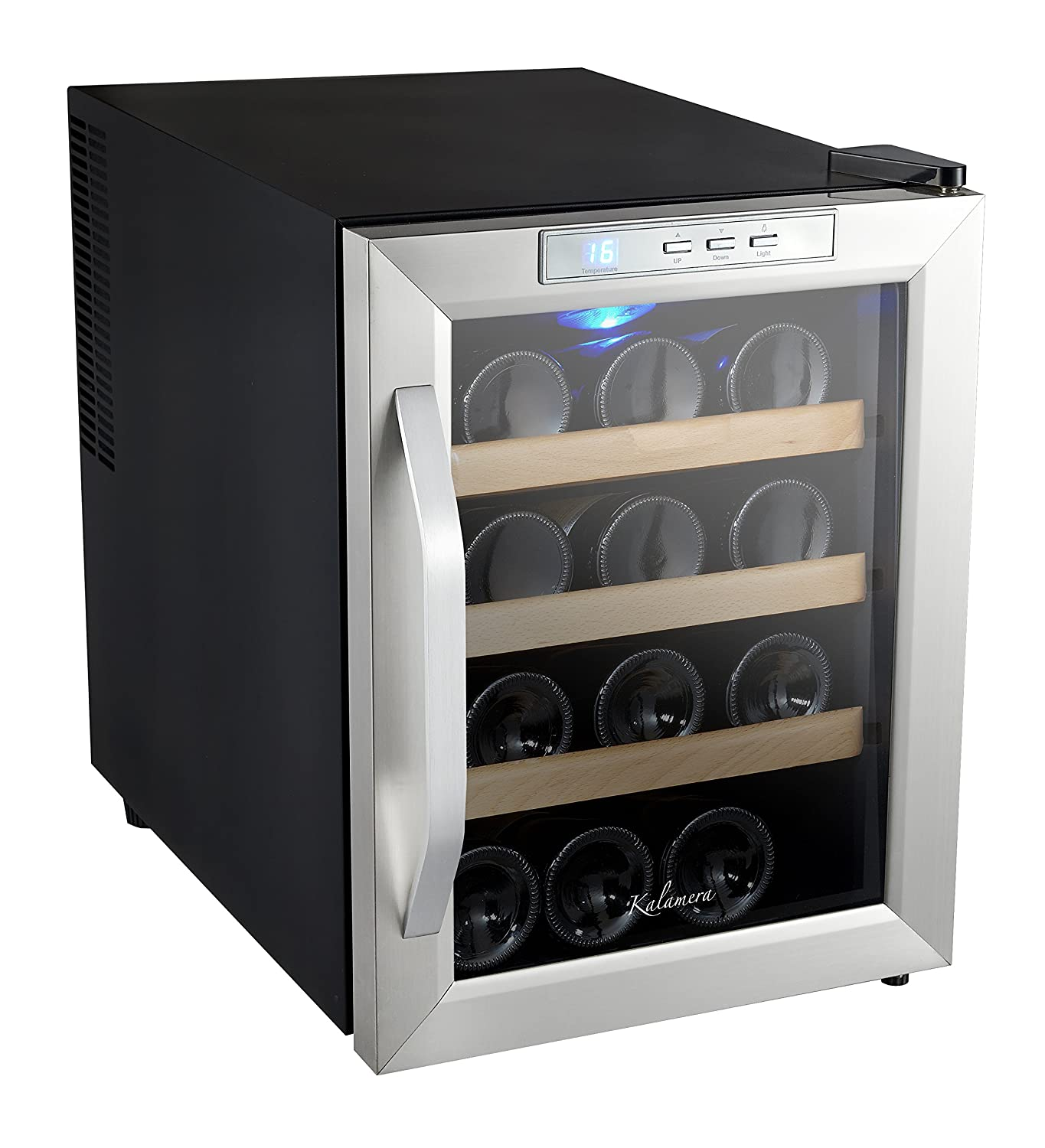 kalamera  bottle counter top stainless steel wine cooler  - kalamera  bottle counter top stainless steel wine cooler refrigeratoramazonca home  kitchen