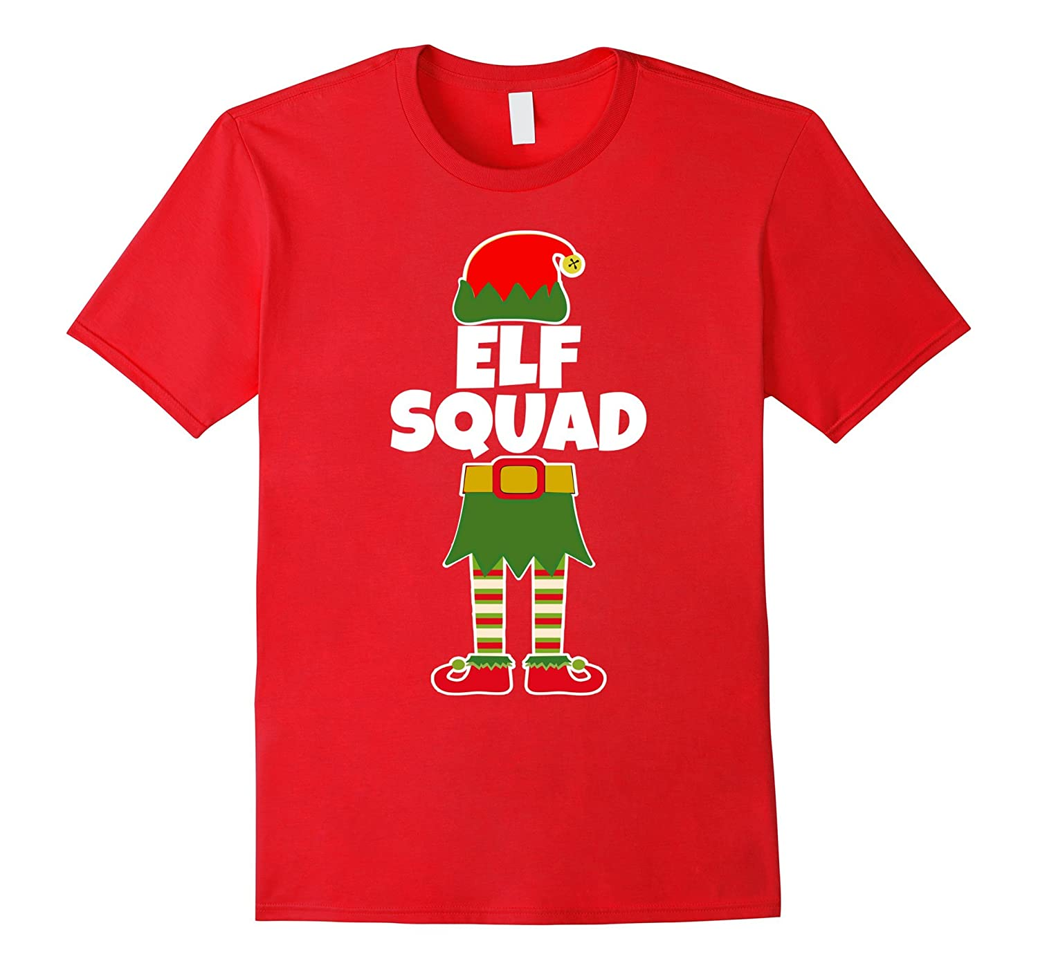 Elf Squad Christmas Family Santa Holiday T Shirt Top-ANZ