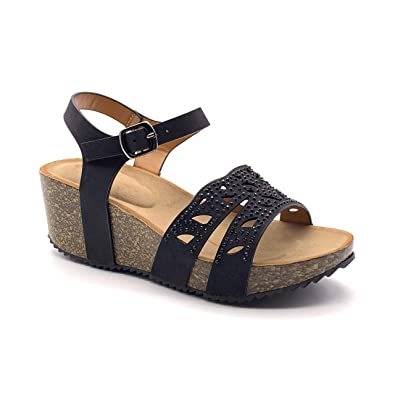 Talons Sandale Chaussure Hauts Mode Casual Femme Angkorly Bohème lKTJcF1