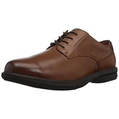 Nunn Bush Men's Messina Plain Toe Oxford with Kore Slip Resistant Comfort Technology | Oxfords