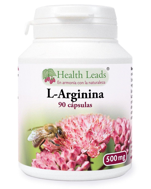 L-Arginina 500mg x 90 cápsulas (no estearato de magnesio): Amazon.es: Salud y cuidado personal