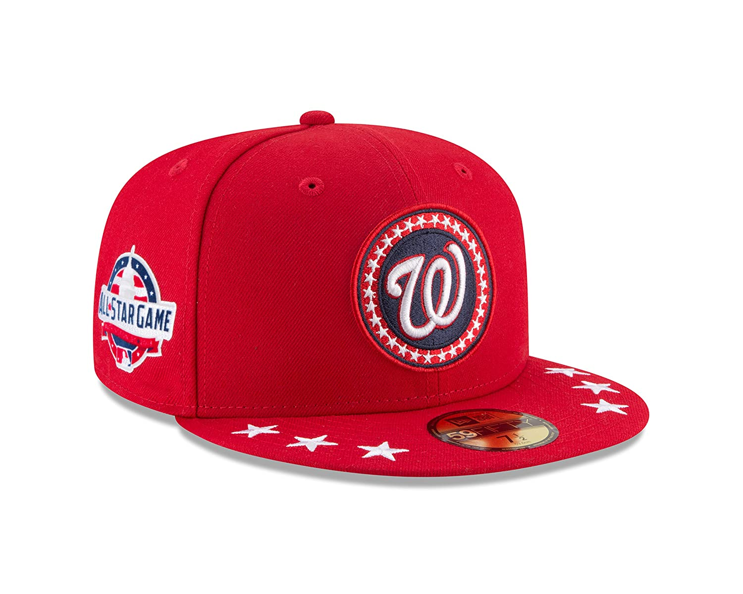 finest selection e44ca 0f68c Amazon.com   New Era Washington Nationals 2018 MLB All-Star Workout  On-Field 59FIFTY Fitted Hat - Navy (7 1 8) (7 3 4)   Sports   Outdoors