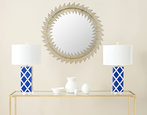 Safavieh Home Collection Sunray Circle Mirror, Antique Gold