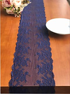 Lace Table Runner Lace Decor Overlay Tabletop Runners R01 (Navy)