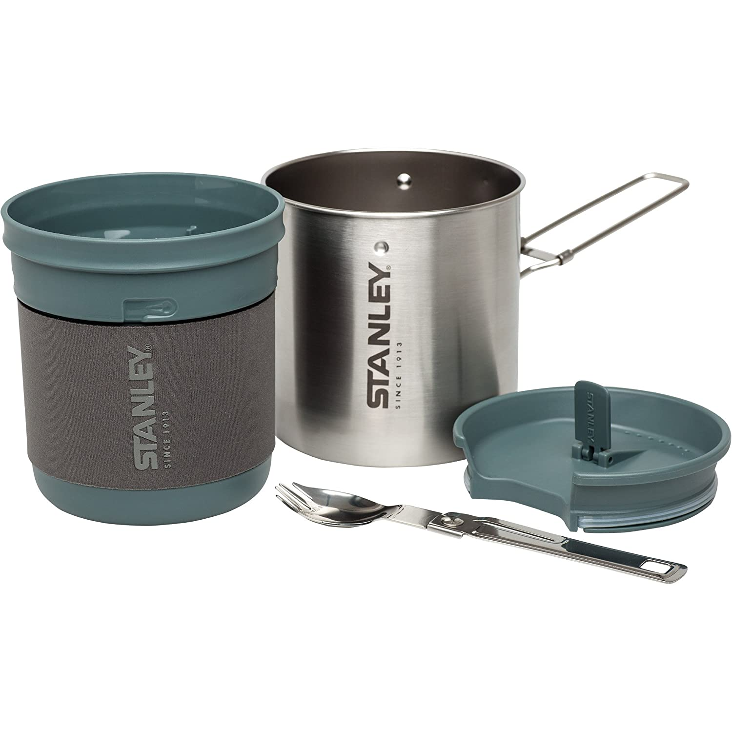 Amazoncom Stanley Mountain Compact Cook Set Stainless Steel 24