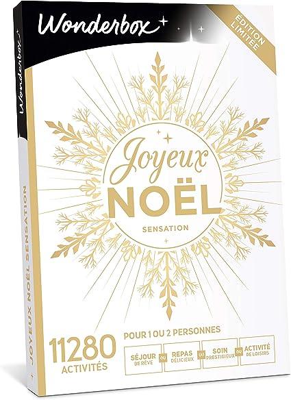 Wonderbox – Coffret cadeau noël   JOYEUX NOEL Sensation – plus de