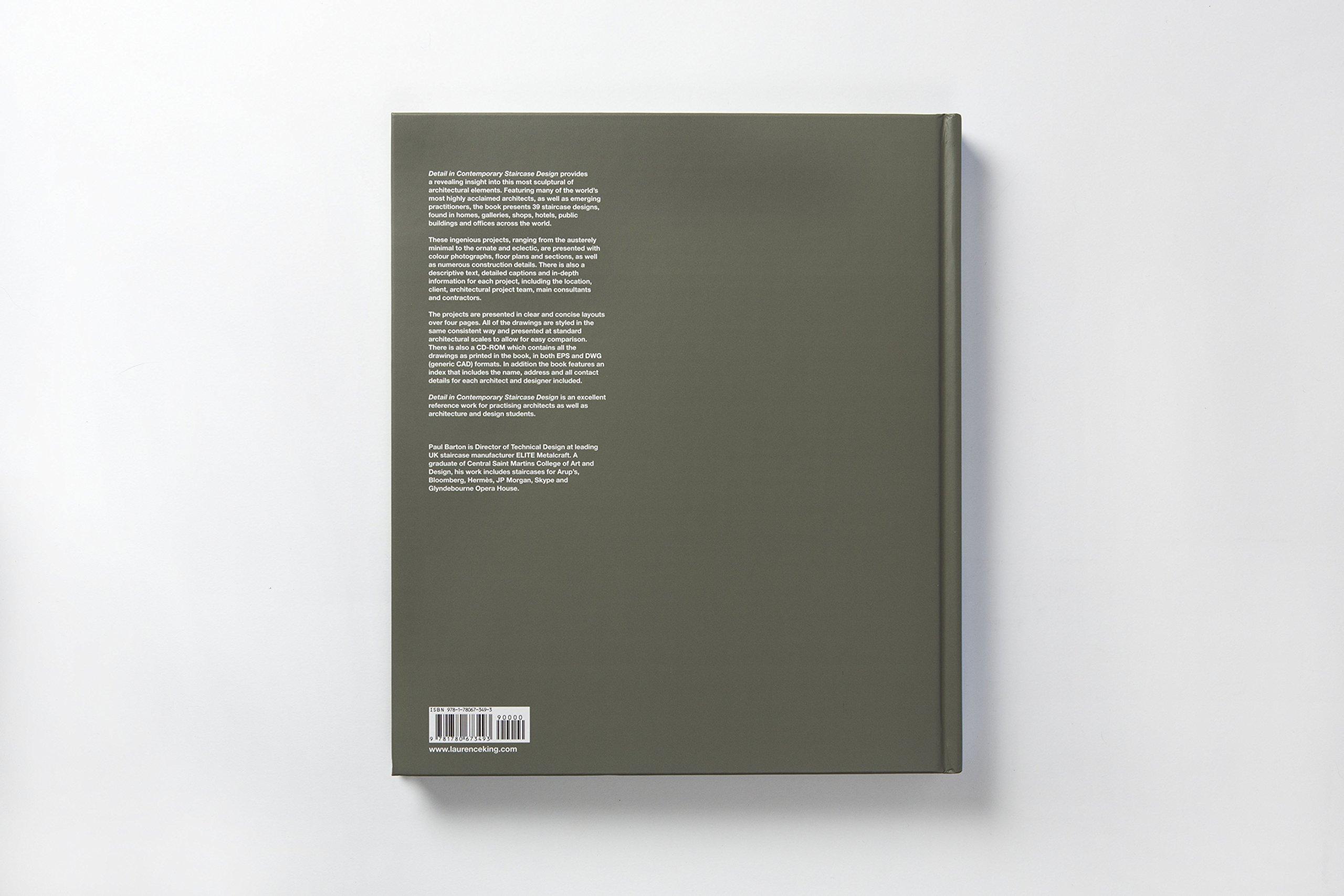 Amazon Detail In Contemporary Staircase Design 9781780673493 Paul Barton Books