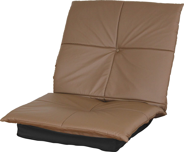 レザー リラックス座椅子 (ブラウン) 【5段階リクライニング/合成皮革/ハイバック】 B00Y06JIF8 ブラウン ブラウン