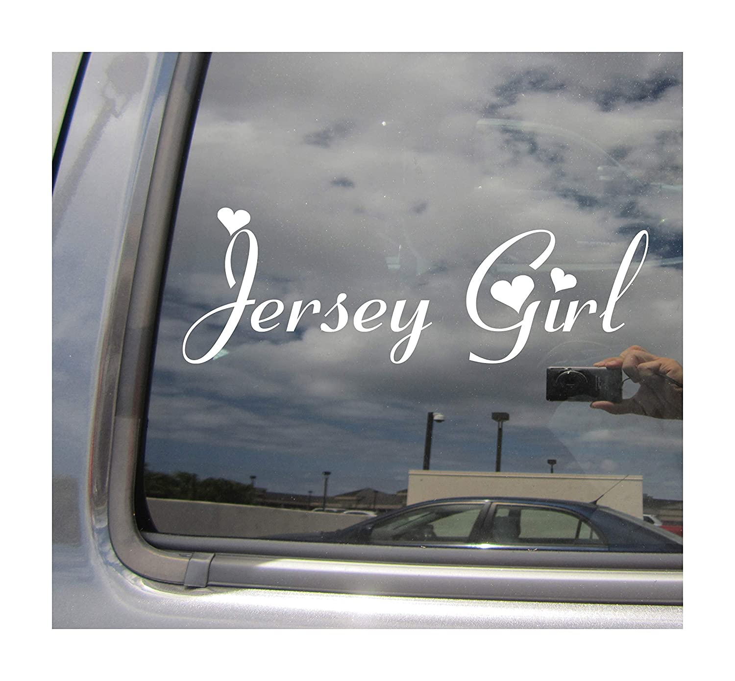 Right now decals jersey girl new jersey girly cars trucks moped helmet hard hat auto automotive craft laptop vinyl decal store window wall sticker 10113