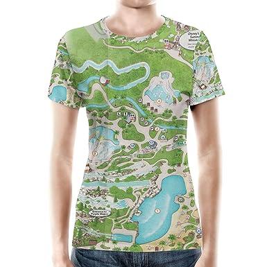 Blizzard Beach Map Women Cotton Blend T Shirt At Amazon Women S