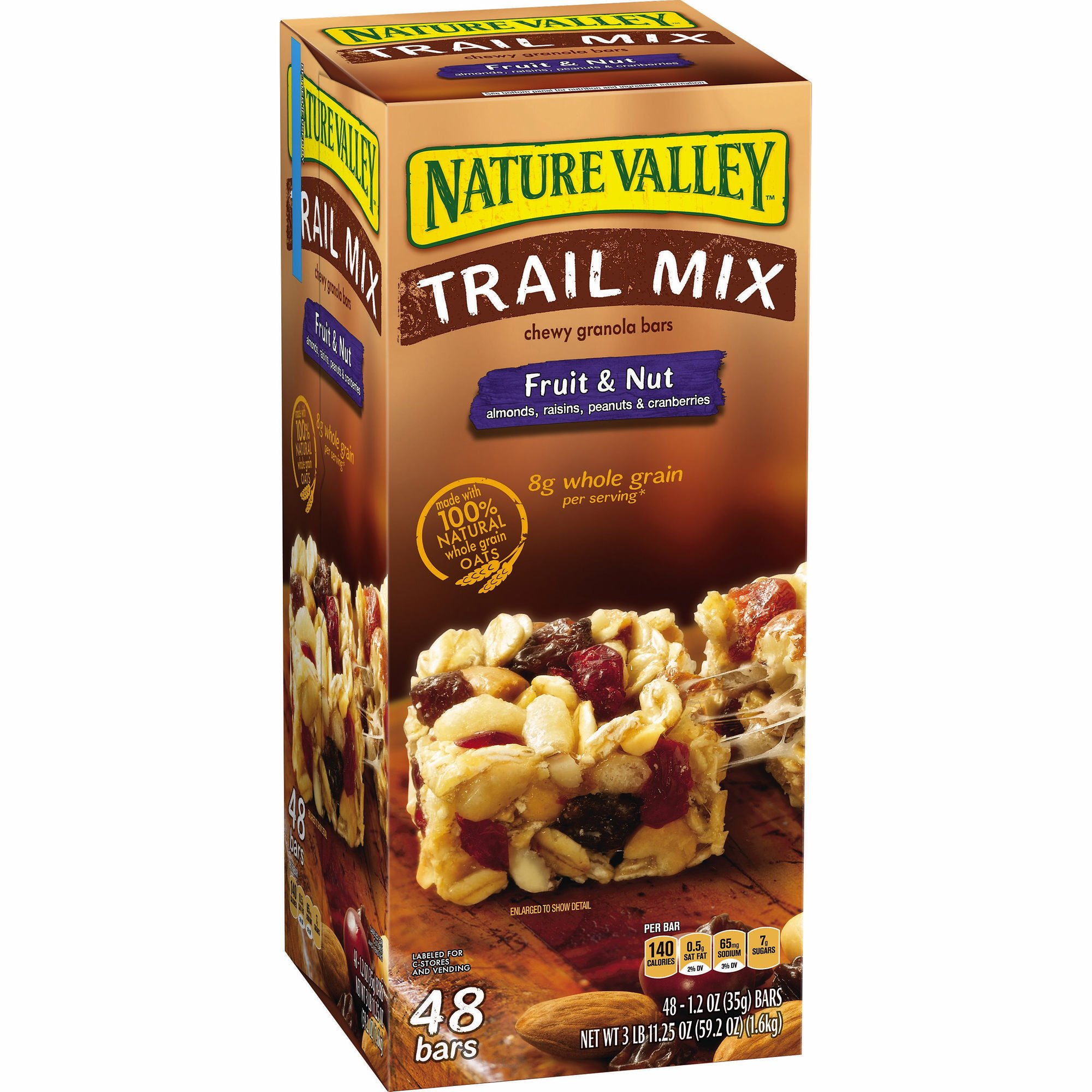 Nature Valley Fruit & Nut Trail Mix Chewy Granola Bars, 48 ct. (pack of 6) by Nature Valley (Image #1)