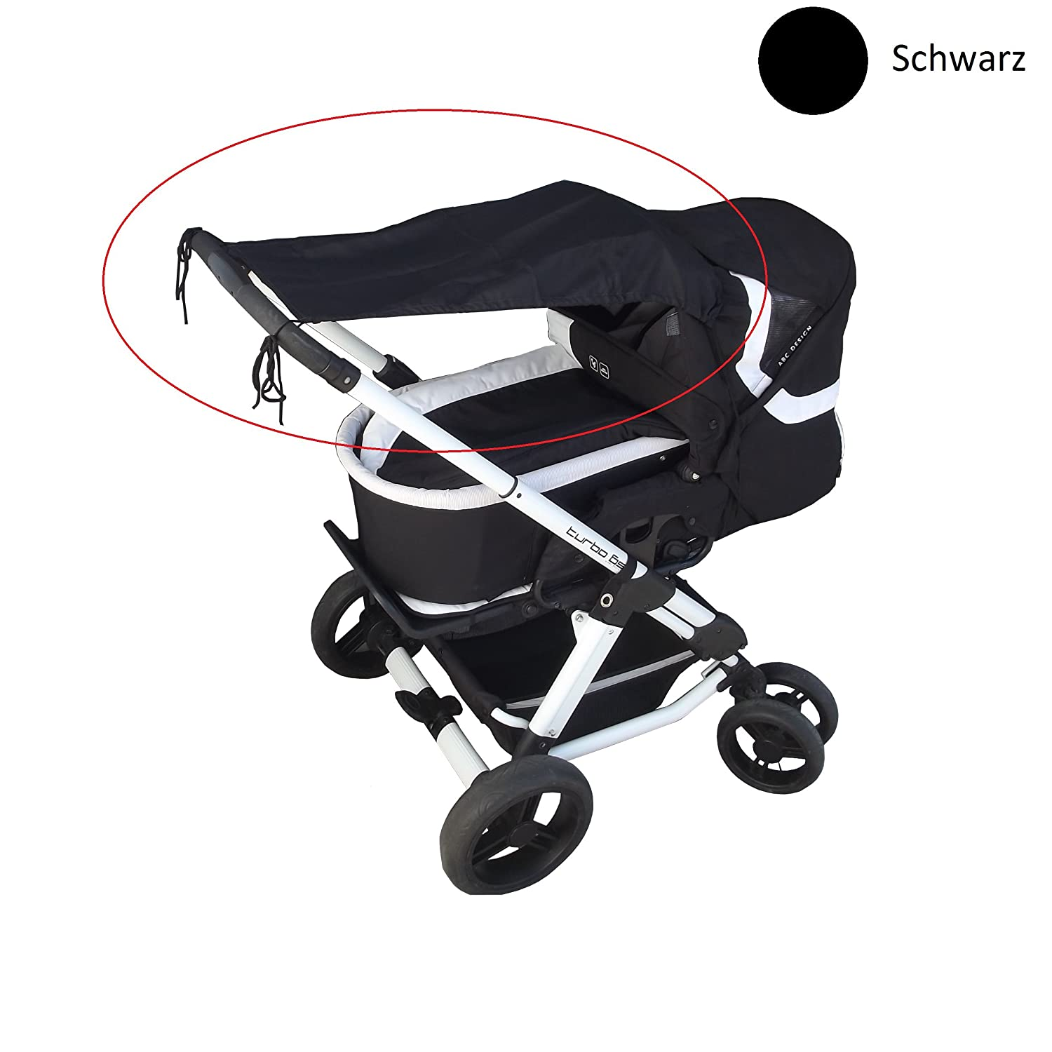 UV protection 50+ Smart-Planet high quality sun sail // sun protection universal suitable for all standard baby carriages and sports cars color: black high quality sun protection