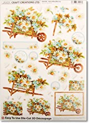Step-by-Step Layout DCD576 Red Romance Pack of 3 Craft Creations Die-Cut 3D Decoupage A4 210 x 297mm