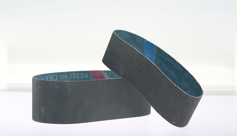 """(3) 8"""" X 3"""" X 25 7/32"""" 600 Grit Silicon Carbide Lapidary Grinding Belt für 8"""" Expandable Rubber Drum"""