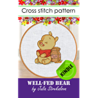 Cross stitch pattern book with well-fed bear + tutorial, embroidery design animals in pdf Kindle format, DMC floss, baby…