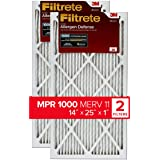 Filtrete 14x25x1, AC Furnace Air Filter, MPR 1000, Micro Allergen Defense, 2-Pack