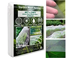 Ultra Fine Garden Mesh Netting, Plant Covers 8'x24' Garden Netting for Protect Vegetable Plants Fruits Flowers Crops Greenhou