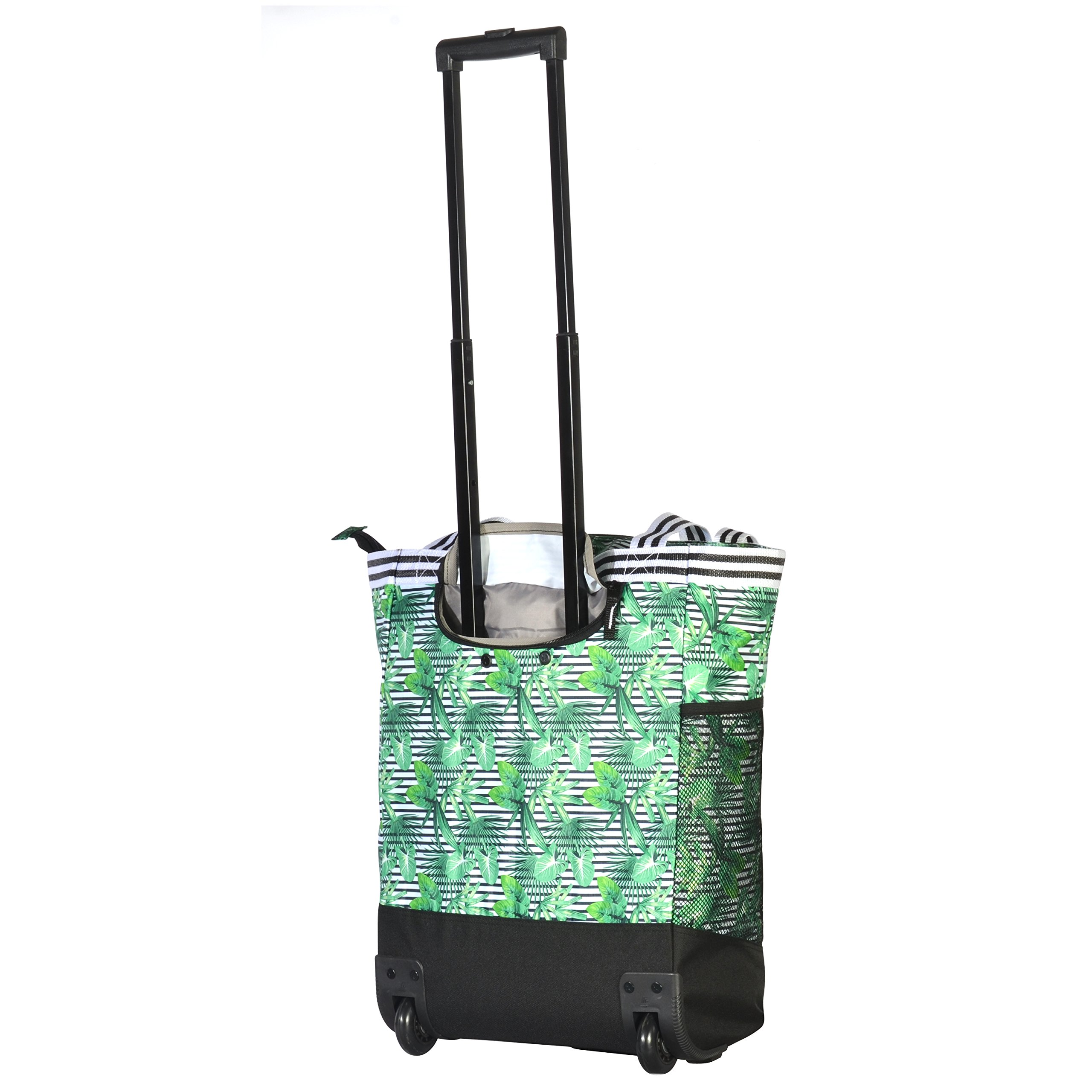 Olympia 2-Piece Rolling Shopper Tote and Cooler Bag, Rain Forest by Olympia (Image #4)